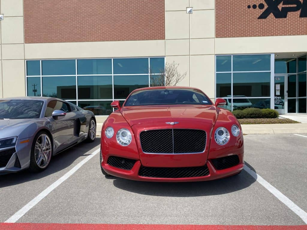 2013 Bentley Continental GT paint protection full front 2