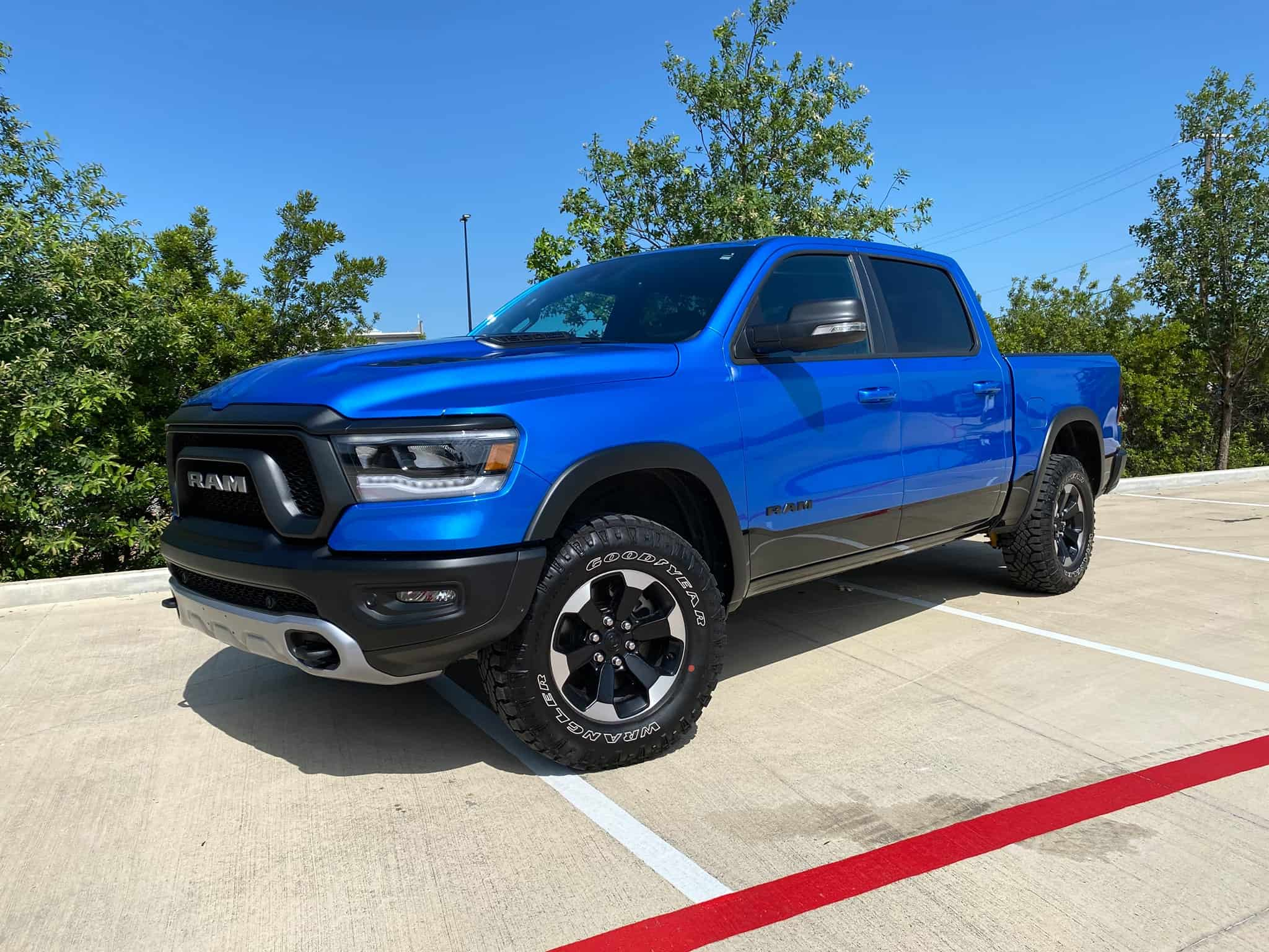 2021 Ram 1500 Rebel hydro blue xpel ultimate plus full front truck paint protection wrap